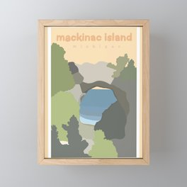 Mackinac Island Michigan  Framed Mini Art Print