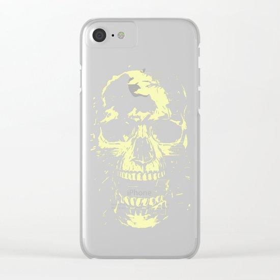Scream (gold) Clear iPhone Case