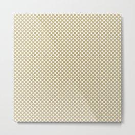 Hemp and White Polka Dots Metal Print