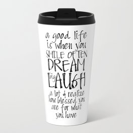 Smile Dream Laugh Girlfriend Gift Women Gift Gifts For Boyfriend Blessed SignBlessed Home Printable Travel Mug