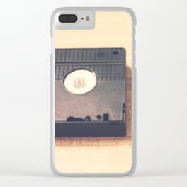 VHS Video Tape Clear iPhone Case
