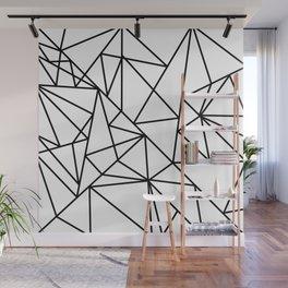 Black white modern abstract geometrical pattern Wall Mural