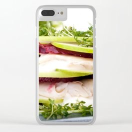 Apple and trout appetizer Clear iPhone Case