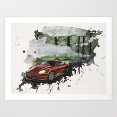 Keep Driving  Art Print