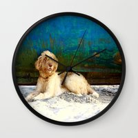 hippie Wall Clocks featuring Hippie by Sparnuota Fotografija