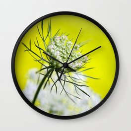 Lace Wildflower Wall Clock