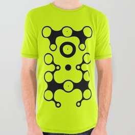 Lichtoglyphs - black on lemon lime All Over Graphic Tee