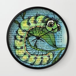 C is for Caterpillar Wall Clock