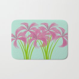 Pink Lilies in Vase Bath Mat