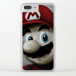 Plumbing King Mario - Color Clear iPhone Case