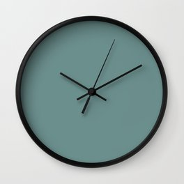 Colors of Autumn Light Pastel Blue Solid Color Wall Clock