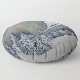 The Snowboarder Floor Pillow