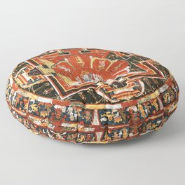Mandala Of Hevajra Buddhist Deity Floor Pillow