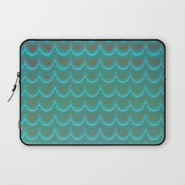 Mermaid Scales Blue Green Wave Laptop Sleeve
