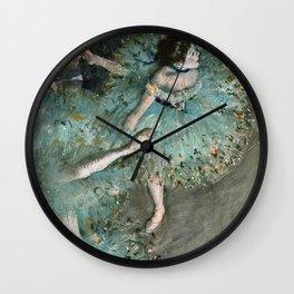 Edgar Degas - Dancer In Green.1877 Wall Clock