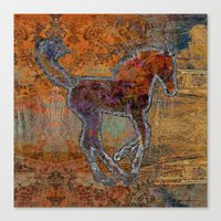 pony Canvas Prints featuring Pony by evisionarts