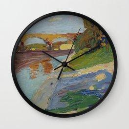 Wassily Kandinsky - München – Die Isar Wall Clock