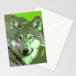 Wolf 046 Stationery Cards