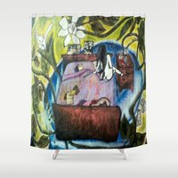 perfume Shower Curtains featuring Perfume by Carol Love