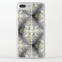Golden Diamond Motifs Clear iPhone Case