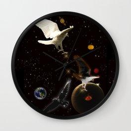 """Spark of Creation"" Raven Artwork Wall Clock"