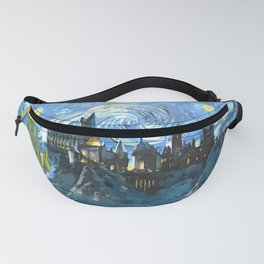 Starry Night in H castle Fanny Pack