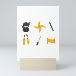 Leather Ninja Mini Art Print