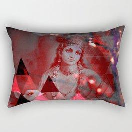 Krishna Reprise - The Hindu God Rectangular Pillow