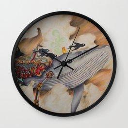 Whale Machine Wall Clock