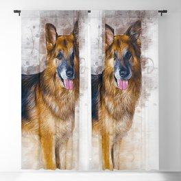 German Shepherd Blackout Curtain
