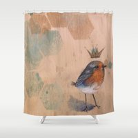 the little prince Shower Curtains featuring The Little Prince by Megan Buccere
