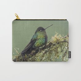 Fiery Throated Hummingbird perched in the Costa Rican Rainforest Carry-All Pouch