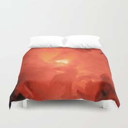 Textures (Red version) Duvet Cover