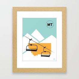 Skiing in Montana Framed Art Print