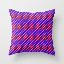 When the Deep Purple Falls Throw Pillow