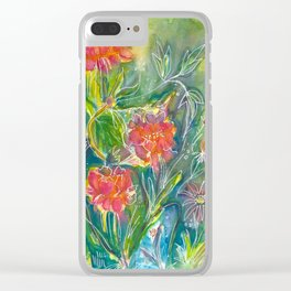 Magical Flowers Clear iPhone Case