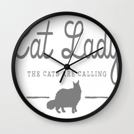 Crazy Town Cat Lady Wall Clock