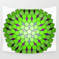 matrix Wall Tapestries featuring Pentagon Matrix by Harvey Warwick