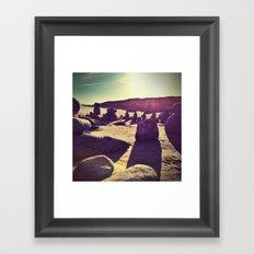 Stones on Perranuthnoe Beach Framed Art Print
