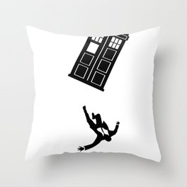 Doctor Who - Mad Men Throw Pillow