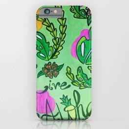 Live Aloha (color)  iPhone Case