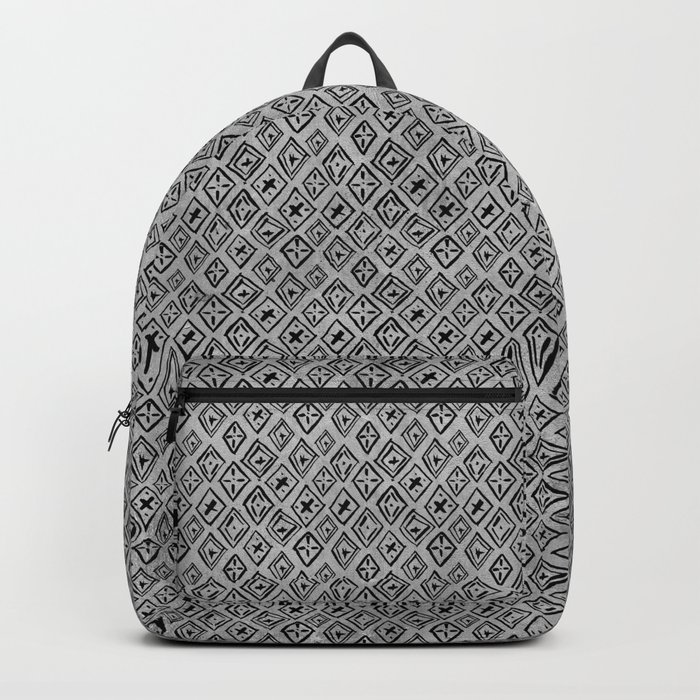 60s -Black abstract pattern on concrete -Mix&Match with Simplicty of life Backpack