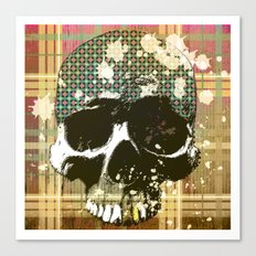tartan skull Canvas Print