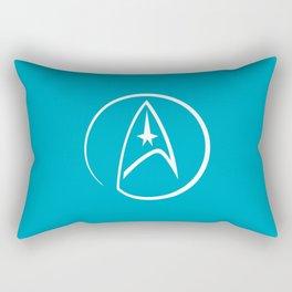 Heathen Trekkie - StarTrek 's Spock Blue Rectangular Pillow