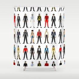 King MJ Pop Music Fashion LV Shower Curtain