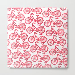 roule ma poule - wanna ride my bicycle red Metal Print