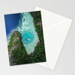 Green Lagoon Coron, The Philippines | Aerial Stationery Cards