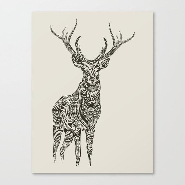 Polynesian Deer Canvas Print