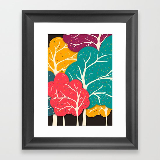 Happy Forest Framed Art Print