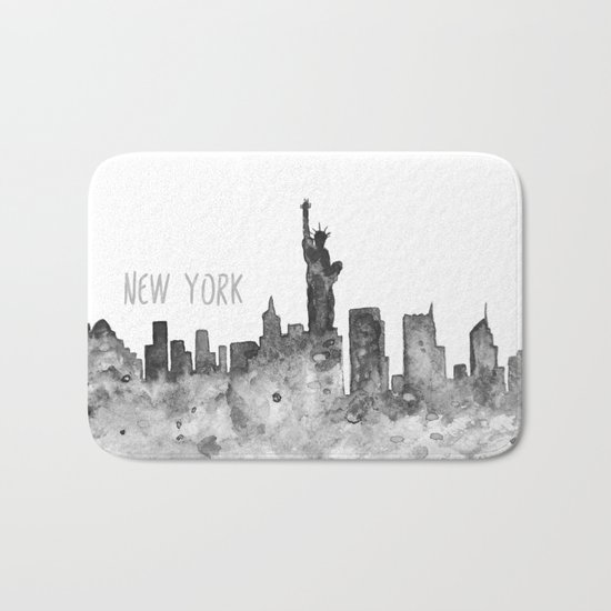 New York art Bath Mat